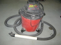 Shop Vac (Dry use only--needs special filter for wet)