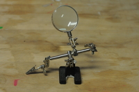 Soldering Third Hand Tool (with 5x Magnifier)