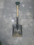 Square point digging shovel