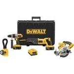Factory-Reconditioned DEWALT DCK450XR 18V Cordless XRP 4-Tool Combo Kit