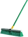 Quickie 00528 18-Inch Bulldozer Push Broom Indoor/Outdoor