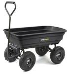 Tricam GOR200B Gorilla Carts 600-Pound Capacity Poly Dump Cart, Black