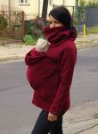 Red babywearing fleece