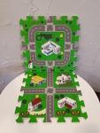 9-pc. interlocking playmat w/ roads