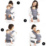 Beco Gemini 4-in-1 Carrier, standard/baby size, grey