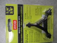 """drill multi-chuck key, 1/4"""" & 3/8"""""""