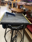 Wet tile saw with tray 4 inch
