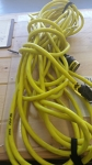 Fluorescent yellow extension cord