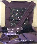 BabyHawk Oh Mei - Toddler Purple Stars