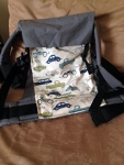 Action Baby Carrier - Toddler size - browns & blues Car print