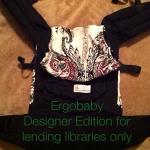 Ergobaby Original - black designer