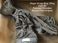 Maya Wrap - Brown Stripes with Padded Shoulder