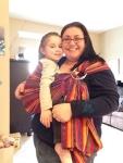 Maya padded shoulder bright stripes