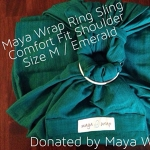 Maya Wrap Emerald - Comfort Fit - Medium