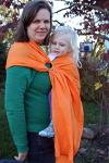 Comfy Joey Orange Linen