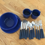 Camping Dishes and Cutlery (for 2-4 people)