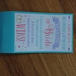 Wedding shower game card
