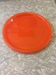 "Set of 4 orange 10"" plastic plates"