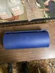 Blue foam camping sleeping pad mat