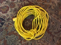 ~50 foot yellow extension cord