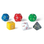 Assorted 6, 8, 12, 20 sided dice