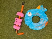 Zwemgordel roos en zwembad blauw/oranje Nabaiji