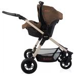 Baninni baby stroller black and beige