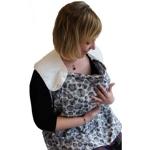 écharpe d'allaitement - borstvoedingsdoek (Simplygood) - bruin bollen
