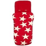 Voetenzak - rood witte sterren