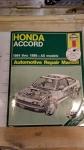 Honda Accord 1984 thru 1989 All Models