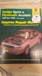 Dodge Spirit & Plymouth Acclaim 1989 thru 1995 All Models