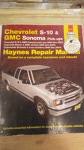 Chevrolet S-10 & GMC Sonoma Pick-ups (1994 thru 2001) Chevrolet Blazer & GMC Jimmy (1995 thru 2001) Oldmobile Bravada & Isuzu Humbre (1996 thru 2001)