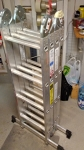 17' High Aluminum Articulating Ladder