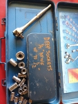 1/4 drive SAE and incomplete Metric ratchet set