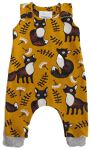 biau-biau Foxes on ochre romper, 3-6 mths