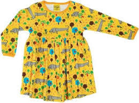 Duns Dogs life dress long sleeve with gather skirt, 2-3 yrs