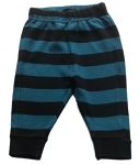 Frugi Blue and black striped trousers, 3-6 mths