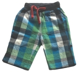 Frugi Blue green checked trousers, 3-6 mths