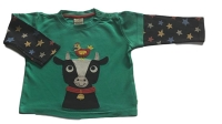 Frugi Cow and chicken LS t-shirt, 12-18 mths (extra loved)