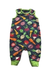 Frugi Knee patch dungarees (homegrown), 3-6 mths