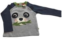Frugi Happy raglan t-shirt (panda), 6-12 mths