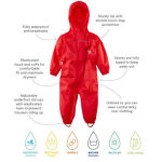 Muddy Puddles Originals Puddlesuit (Red), 3-4 yrs