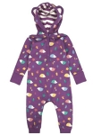 Piccalilly Hooded playsuit (hedgehog), 6-12 mths