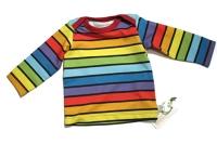 biau-biau Rainbow stripes t-shirt, 3-6 mths