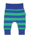 Toby Tiger Blue green stripe yoga pants, 1-2 yrs