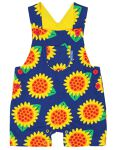 Toby Tiger Sunflower short dungarees, 1-2 yrs