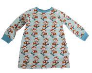 Biau-biau Skater Fox Sweatshirt Dress, 18-24 mths