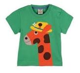 Frugi Applique giraffe short sleeve t-shirt, 2-3 yrs (extra loved)