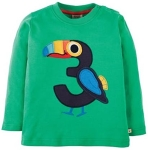 "Frugi Magic number ""3"" t-shirt, 2-3 yrs"
