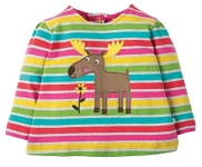 Frugi Connie applique rainbow marl top, 2-3 yrs